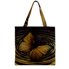 Butterfly Insect Wave Concentric Grocery Tote Bag