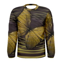Butterfly Insect Wave Concentric Men s Long Sleeve Tee