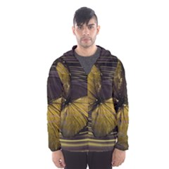 Butterfly Insect Wave Concentric Hooded Wind Breaker (men)