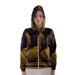 Butterfly Insect Wave Concentric Hooded Wind Breaker (women)