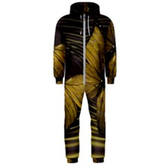 Butterfly Insect Wave Concentric Hooded Jumpsuit (men)