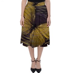 Butterfly Insect Wave Concentric Folding Skater Skirt