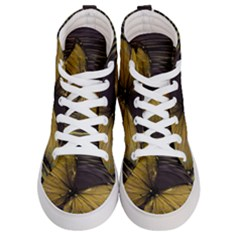 Butterfly Insect Wave Concentric Men s Hi Top Skate Sneakers