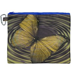 Butterfly Insect Wave Concentric Canvas Cosmetic Bag (xxxl)