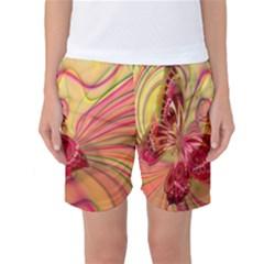 Arrangement Butterfly Aesthetics Women s Basketball Shorts