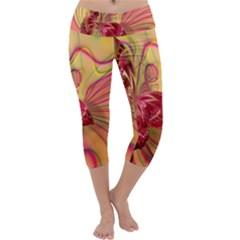 Arrangement Butterfly Aesthetics Capri Yoga Leggings