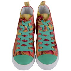 Arrangement Butterfly Aesthetics Women s Mid Top Canvas Sneakers