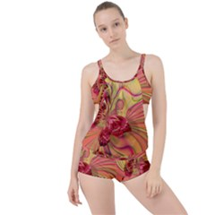 Arrangement Butterfly Aesthetics Boyleg Tankini Set
