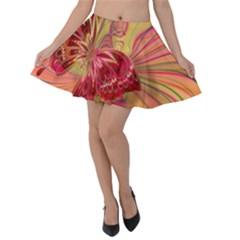 Arrangement Butterfly Aesthetics Velvet Skater Skirt