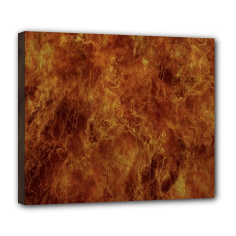 Abstract Flames Fire Hot Deluxe Canvas 24  X 20