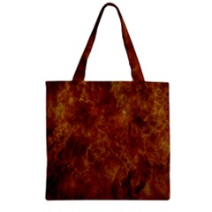 Abstract Flames Fire Hot Zipper Grocery Tote Bag