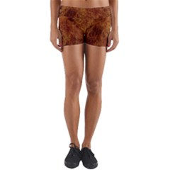 Abstract Flames Fire Hot Yoga Shorts