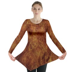 Abstract Flames Fire Hot Long Sleeve Tunic