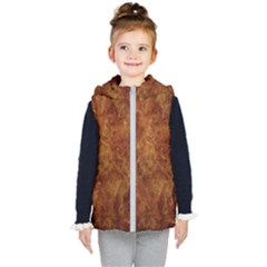 Abstract Flames Fire Hot Kid s Puffer Vest