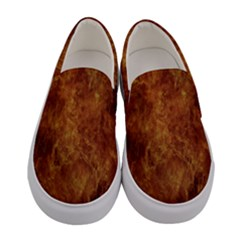 Abstract Flames Fire Hot Women s Canvas Slip Ons