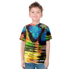 Blue Morphofalter Butterfly Insect Kids  Cotton Tee