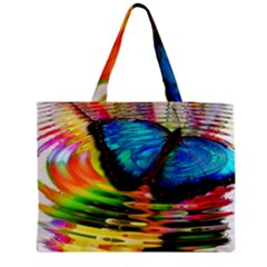 Blue Morphofalter Butterfly Insect Medium Tote Bag
