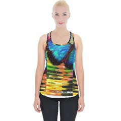 Blue Morphofalter Butterfly Insect Piece Up Tank Top