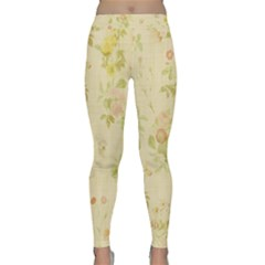 Floral Wallpaper Flowers Vintage Classic Yoga Leggings