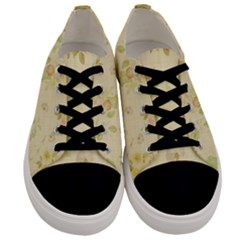 Floral Wallpaper Flowers Vintage Men s Low Top Canvas Sneakers