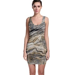 Texture Marble Abstract Pattern Bodycon Dress