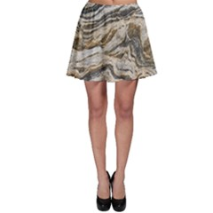 Texture Marble Abstract Pattern Skater Skirt