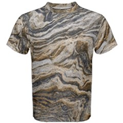 Texture Marble Abstract Pattern Men s Cotton Tee