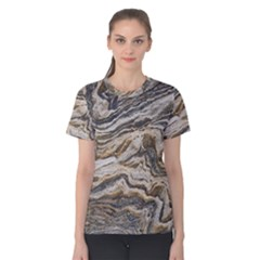 Texture Marble Abstract Pattern Women s Cotton Tee
