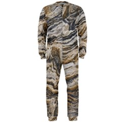Texture Marble Abstract Pattern Onepiece Jumpsuit (men)