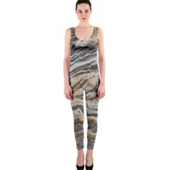 Texture Marble Abstract Pattern Onepiece Catsuit