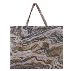 Texture Marble Abstract Pattern Zipper Large Tote Bag