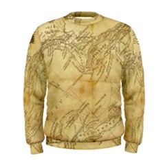 Vintage Map Background Paper Men s Sweatshirt