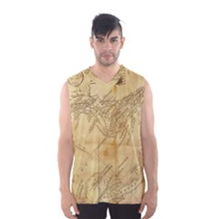 Vintage Map Background Paper Men s Basketball Tank Top