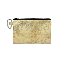 Vintage Map Background Paper Canvas Cosmetic Bag (small)