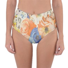 Texture Fabric Textile Detail Reversible High Waist Bikini Bottoms