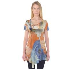 Texture Fabric Textile Detail Short Sleeve Tunic