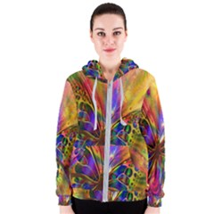 Arrangement Butterfly Aesthetics Women s Zipper Hoodie