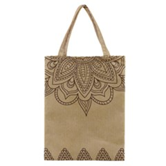 Vintage Background Paper Mandala Classic Tote Bag