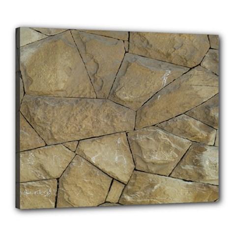 Brick Wall Stone Kennedy Canvas 24  X 20
