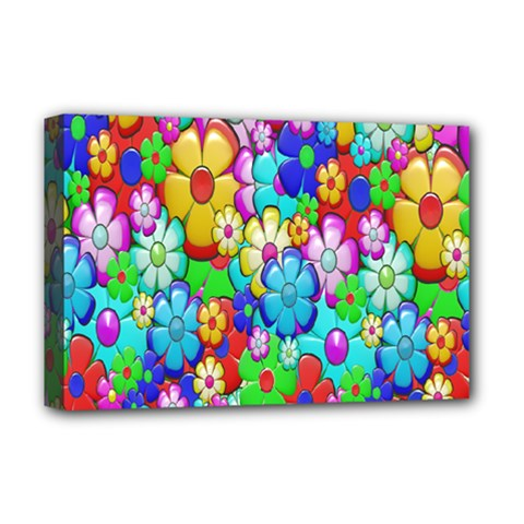 Flowers Ornament Decoration Deluxe Canvas 18  X 12