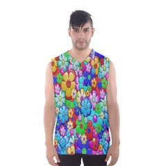 Flowers Ornament Decoration Men s Basketball Tank Top