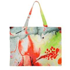 Fabric Texture Softness Textile Zipper Large Tote Bag