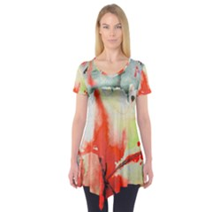 Fabric Texture Softness Textile Short Sleeve Tunic