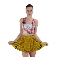 Pattern Petals Pipes Plants Mini Skirt