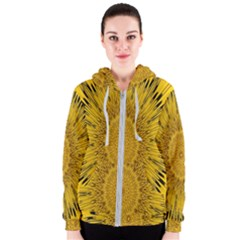 Pattern Petals Pipes Plants Women s Zipper Hoodie