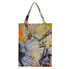 Flower Texture Pattern Fabric Classic Tote Bag