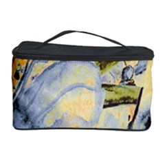 Flower Texture Pattern Fabric Cosmetic Storage Case