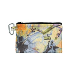 Flower Texture Pattern Fabric Canvas Cosmetic Bag (small)