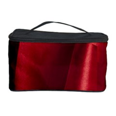 Red Fabric Textile Macro Detail Cosmetic Storage Case