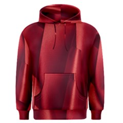 Red Fabric Textile Macro Detail Men s Pullover Hoodie